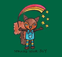 Spread Your Joy: Squirrel Illustration Womens Fitted T-Shirt