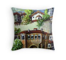 Storey of the old town Throw Pillow