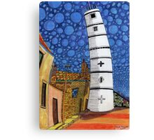 201 - THE LIGHTHOUSE, BLYTH - COLOURED PENCILS - 2008 Canvas Print