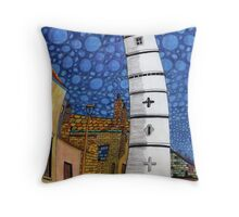 201 - THE LIGHTHOUSE, BLYTH - COLOURED PENCILS - 2008 Throw Pillow