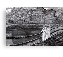 212 - MUNCH'S GIRLS ON A JETTY (INK) Canvas Print