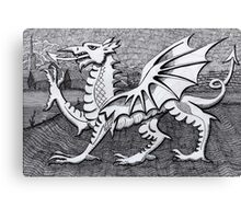 213 - WELSH DRAGON - DAVE EDWARDS - INK - 2007 Canvas Print