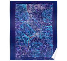 USGS Topo Map Oregon Oregon City 282772 1914 62500 Inverted Poster