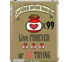 Certified potion hoarder (extra text) iPad Case/Skin