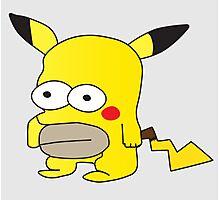 Pikachu + Homer Simpson Photographic Print