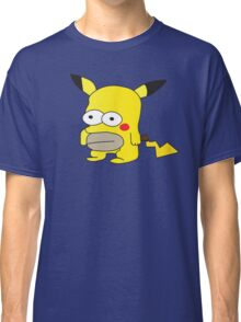 Pikachu + Homer Simpson Classic T-Shirt
