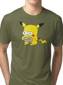 Pikachu + Homer Simpson Tri-blend T-Shirt
