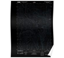 USGS Topo Map Oregon Scratch Post Butte 20110831 TM Inverted Poster