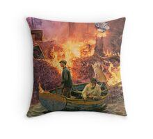 The Night Poacher. Throw Pillow