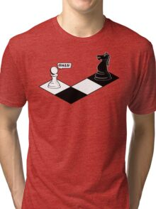 Knight Takes Pawn Tri-blend T-Shirt