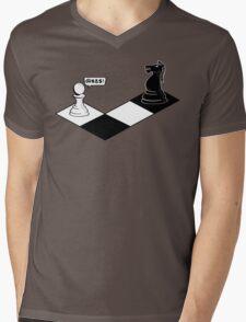 Knight Takes Pawn Mens V-Neck T-Shirt