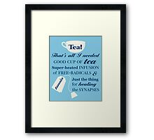 Doctor Who - Tea Quote Framed Print
