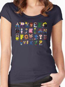 Gamer's Alphabet Women's Fitted Scoop T-Shirt