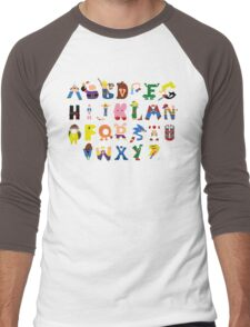 Gamer's Alphabet Men's Baseball ¾ T-Shirt
