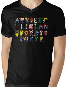 Gamer's Alphabet Mens V-Neck T-Shirt