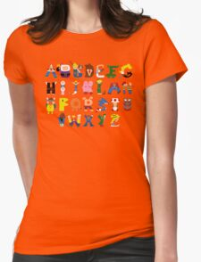 Gamer's Alphabet Womens Fitted T-Shirt