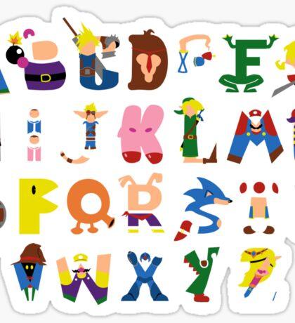 Gamer's Alphabet Sticker