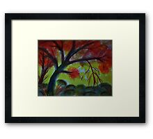 Under the old tree, watercolor Framed Print