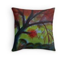 Under the old tree, watercolor Throw Pillow