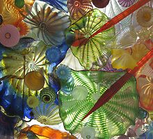 Chihuly's glass wall by Mike Cressy