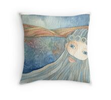 Lighea-Departure of Ulysses Throw Pillow