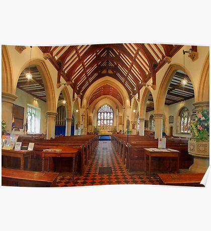 St George's Church Interior, Benenden Poster