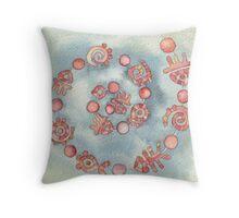 Lighea-coral Throw Pillow