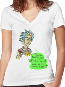 BURP of the Cards Women's Fitted V-Neck T-Shirt