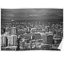 Downtown Spokane2 B&W Poster