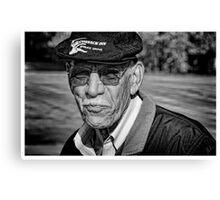 Portrait of a Seasoned Golfer Canvas Print