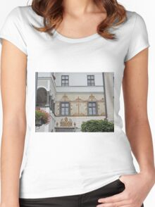 Facade, home of G.D. Thomas Beniczky Women's Fitted Scoop T-Shirt
