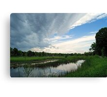 Spring Storm Blowing In Canvas Print