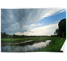 Spring Storm Blowing In Poster