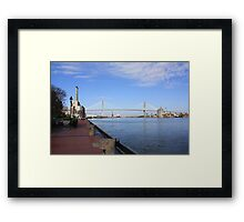Eugene Talmadge Memorial Bridge Framed Print