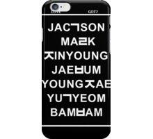 love got7 black iPhone Case/Skin