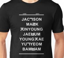 love got7 black Unisex T-Shirt
