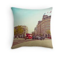 Trafalgar & Strand in the Afternoon Throw Pillow