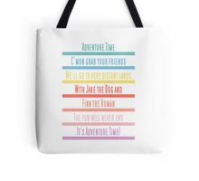 Adventure Time Theme Song Tote Bag