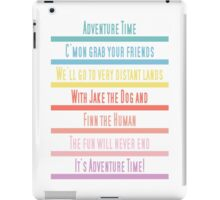 Adventure Time Theme Song iPad Case/Skin