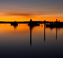 Sunset at Tin Can Bay Queensland by Steve Bass