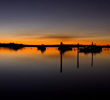 Afterglow at Tin Can Bay by Steve Bass