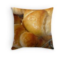 freshly baked croissants Throw Pillow