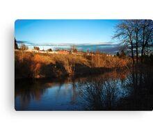 Spokane River near Spokane Community College Canvas Print
