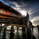 Broken Down Dock in Daylight by Avena Singh