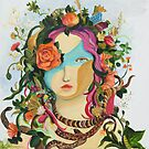 Woman- mask-Flower by Design4fantasy
