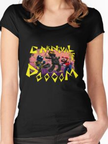 Carnival of Doooom w/Text Women's Fitted Scoop T-Shirt