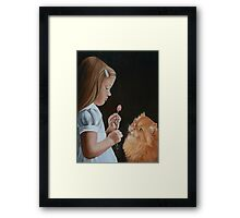 Cute and Cuddley Framed Print