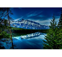 Rundle Mountain Reflections Photographic Print