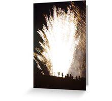 Firework Fountain Greeting Card