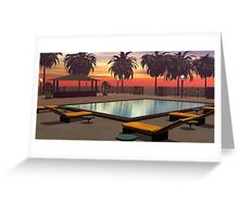 As the sun goes down Greeting Card